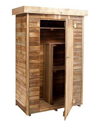 Armario de exterior de madera Theo 131x176x60 cm · LEROY ...