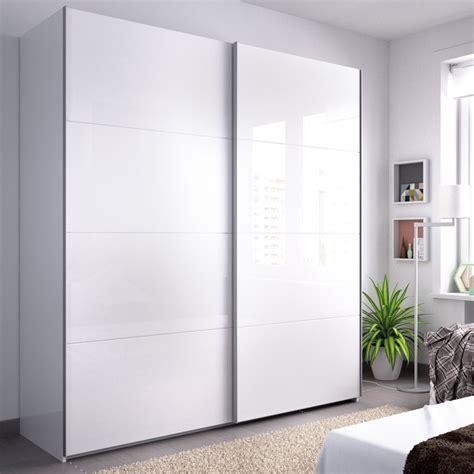 Armario de Puertas Correderas de 180 cm. blanco brillo