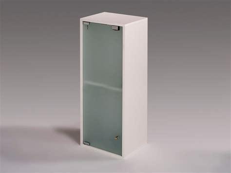 Armario para baño rectangular con puerta de cristal de 80 cm