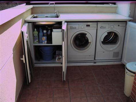 Armario pvc para instalacion lavadora en patio exterior ...