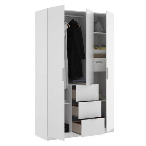 Armario ropero blanco 3 puertas y tres cajones PRECIO ESPECIAL