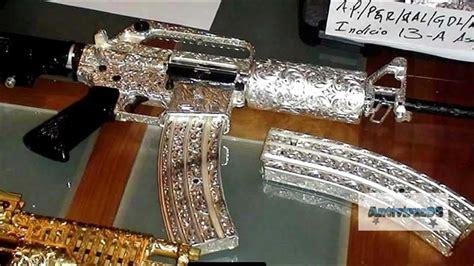 armas lujosas y de oro   YouTube