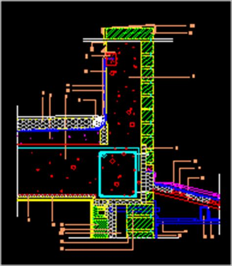 Armed Concrete Roof DWG Block for AutoCAD • Designs CAD
