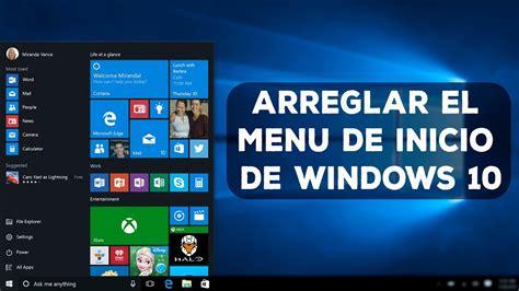 Arreglar el Menu de Inicio de Windows 10 / 7GHOOST   YouTube