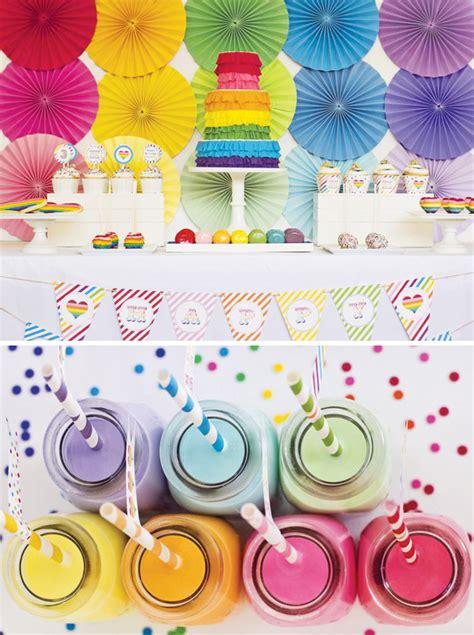 Arreglos para Fiestas Infantiles de Arcoiris | Decoracion ...