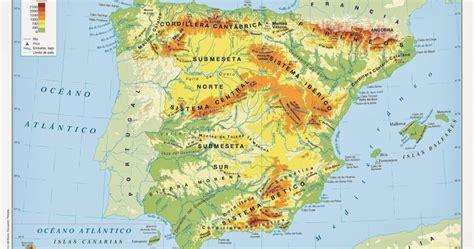 ArsDúcere Primaria: Mapa físico de España