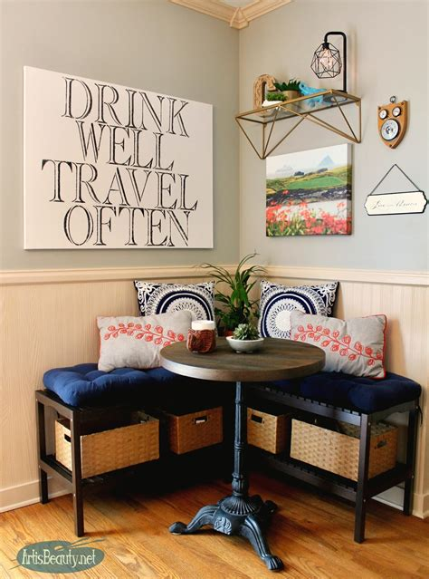 ART IS BEAUTY: Creating an Eating Nook with IKEA benches