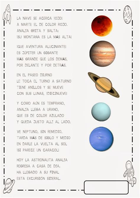 Arte de lenguaje: Escribiendo sobre los planetas Los ...