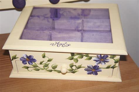 ARTESANIA ABONA: Cajas con flores pintadas a mano