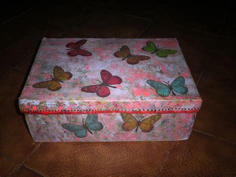 Artesanias: Cajas de zapatos decoradas