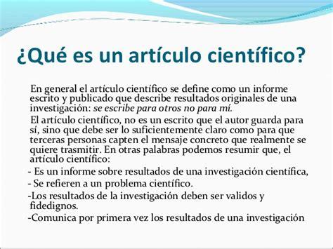 Articulo cientifico presentacion