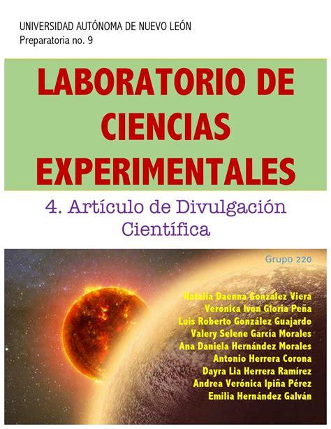 Artículo de Divulgación Científica by Daenna González   Issuu