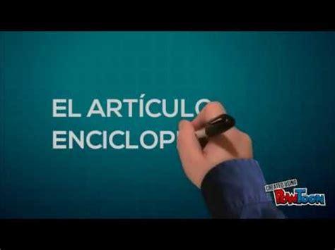 Articulo enciclopedico   YouTube