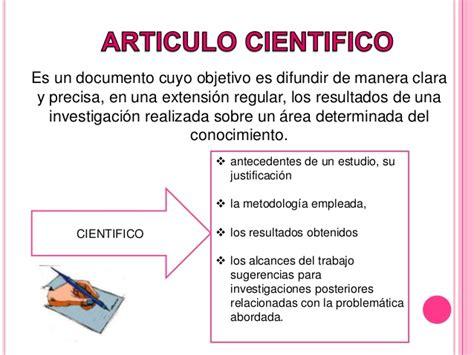 Articulos cientifico y periodistico