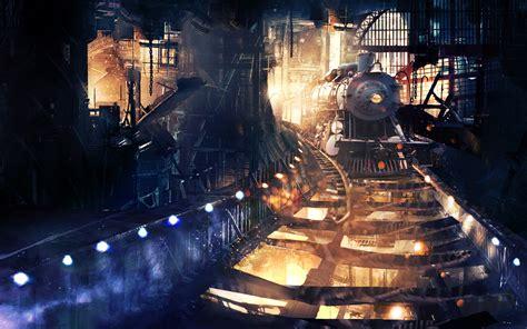 artwork, Fantasy art, Digital art, Train, Steam locomotive ...
