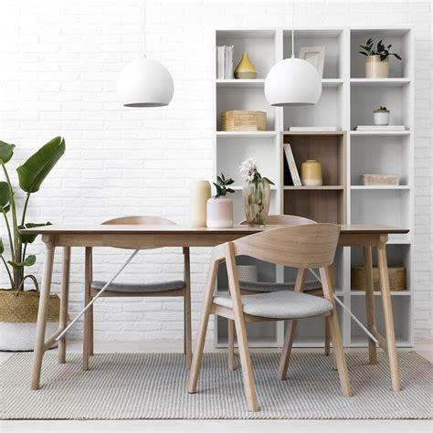 Ash mesa de comedor de madera natural 180x90   Kenay Home