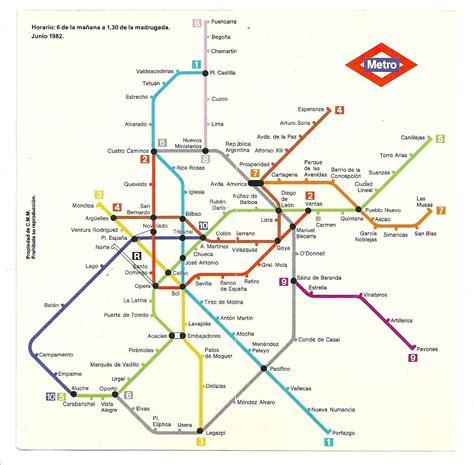 Así era el plano del metro de Madrid en 1982 – La cabeza llena