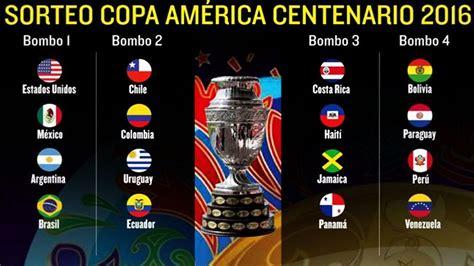 Así quedarón los Grupos, Sorteo Copa America Centenario ...