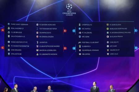 Así quedó el sorteo de la fase de grupos de la Champions ...