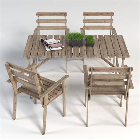 ASKHOLMEN IKEA garden furniture set  table and 4 chairs ...