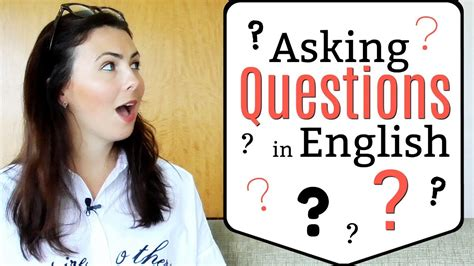 Asking Questions in English | Question Structure | Fix ...