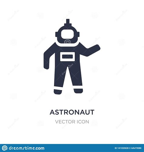 Astronaut Ingravity Icon On White Background. Simple ...