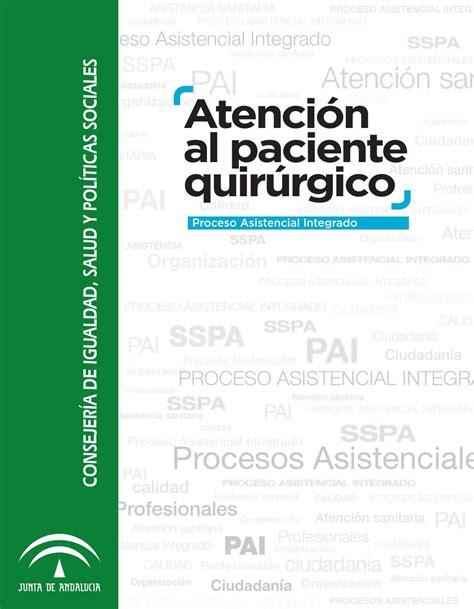 Atención al Paciente Quirúrgico. Proceso Asistencial ...