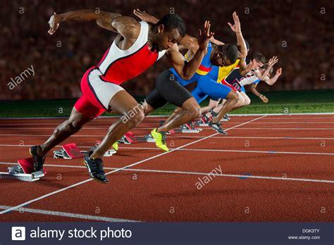 Athletes at start line of race Stock Photo: 61885739   Alamy