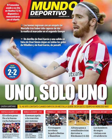 Athletic de Bilbao: Esta es la portada de hoy de la ...