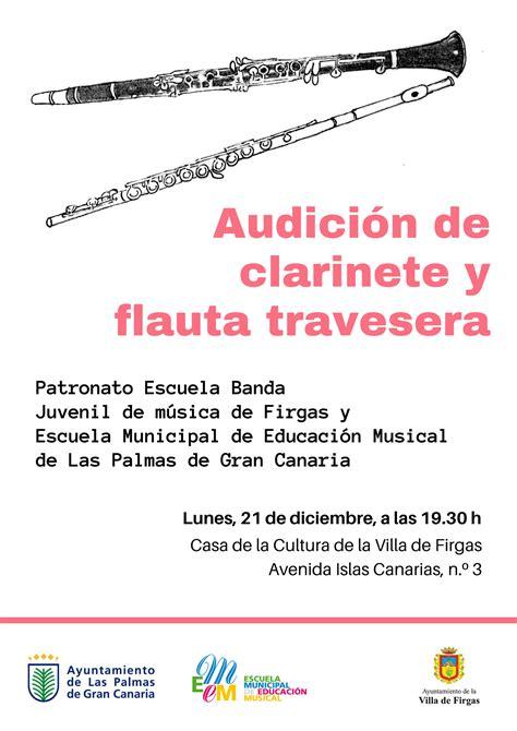 Audición de flauta travesera y clarinete de la Escuela ...