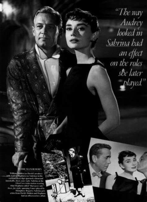 Audrey and William Holden in Sabrina   Sabrina  1954 ...