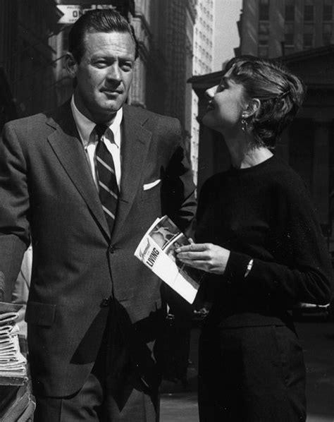 "Audrey Hepburn e William Holden sul set   ""Sabrina"", 1954 ..."