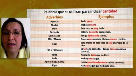 Aula Espanhol Adverbios y Locuciones de Cantidad +Español ...