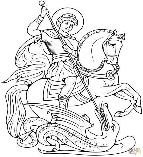 Ausmalbild: heilige Georg und der Drache | Ausmalbilder ...