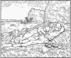 Ausmalbild Vincent van Gogh Kids n Fun | coloring 5 ...