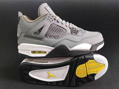Auténtico Zapatillas Nike Air Jordan 4 Plata Gris Hombre ...