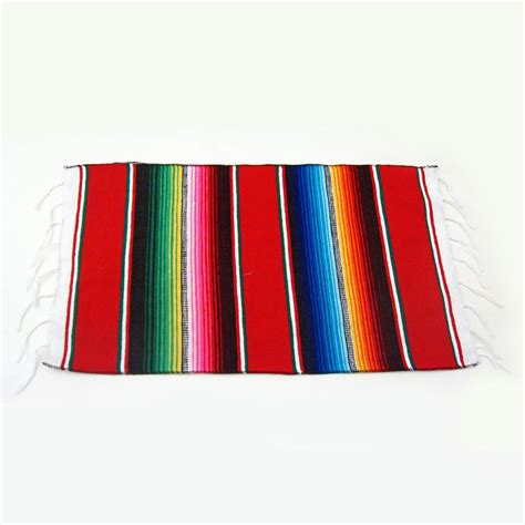 Authentic Mexican Striped Serape Placemat | Fiesta Theme ...