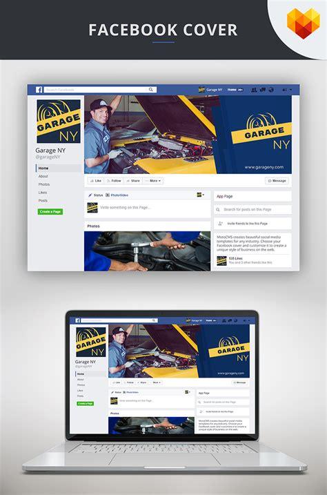 Auto Shop Facebook Cover Template Social Media #66595