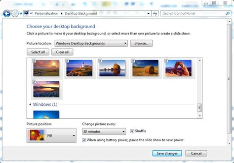 Automatically Change Desktop Wallpapers in Windows 7