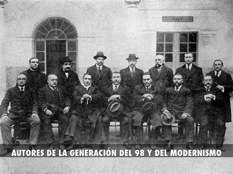 AUTORES DE LA GENERACIÓN DEL 98 Y DEL MODERNISMO by