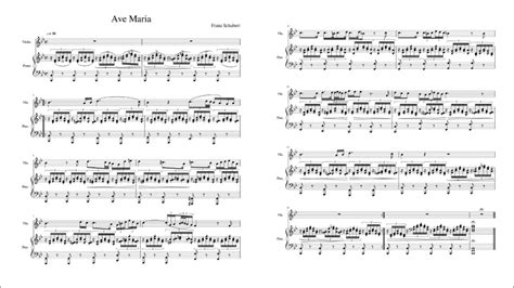 Ave Maria, D.839  Schubert, Franz    Violin and Piano ...