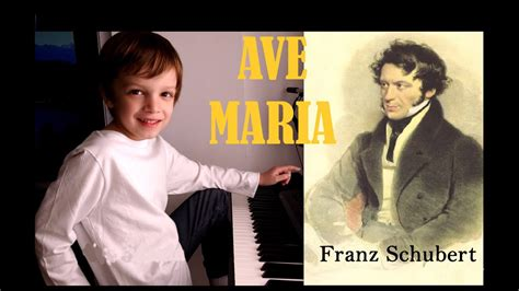Ave Maria Franz Schubert Piano Niño 6 años   YouTube