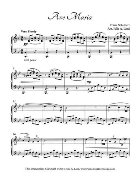 Ave Maria Schubert: Intermediate Piano Solo sheet music