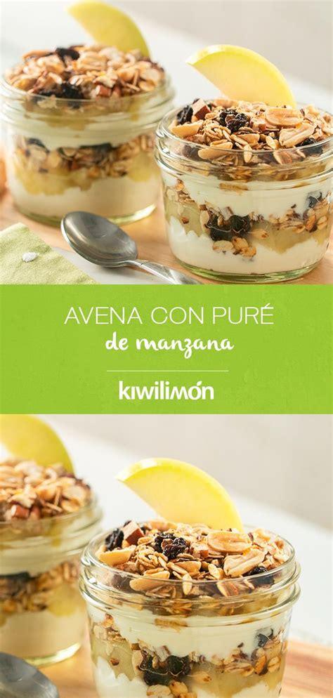 Avena con Puré de Manzana | Receta | Postres saludables ...