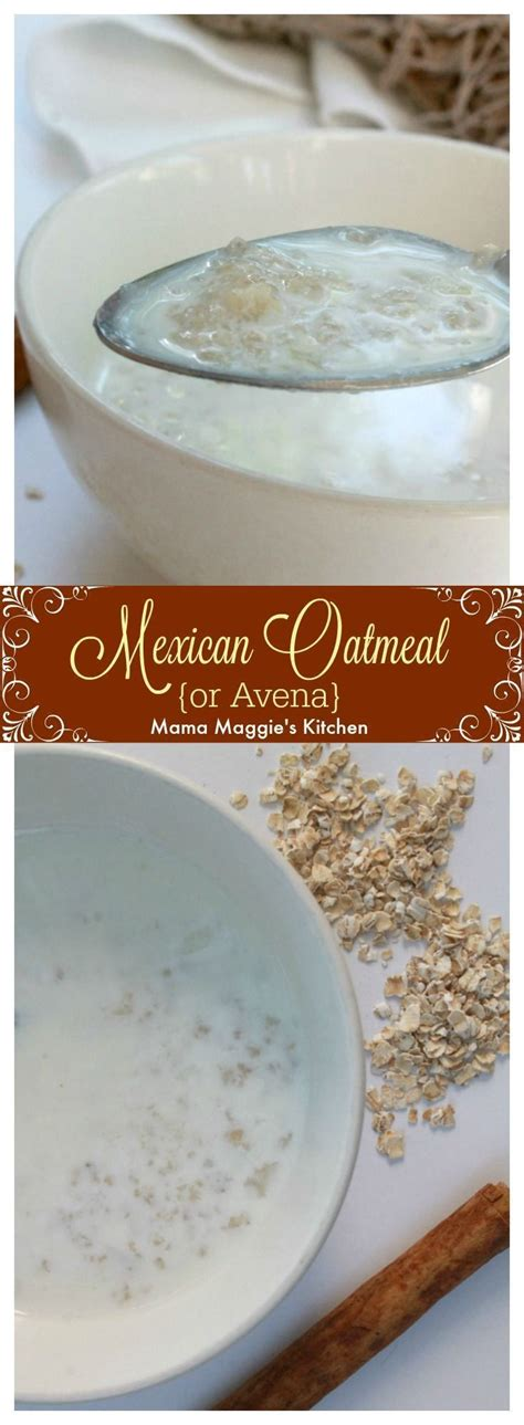 Avena, or Mexican Oatmeal, is a Mexican food classic ...