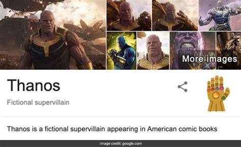 Avengers Endgame: Search Thanos On Google For Avengers ...