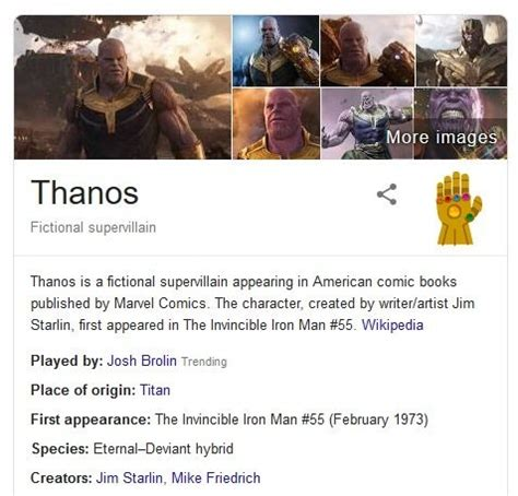 Avengers: Endgame   Thanos Will Snap Your Search Results ...
