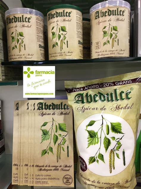 AZÚCAR sano y natural Abedulce en Farmacia Pons Tgna. Mayo ...