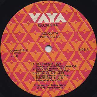 Azuquita / Pura Salsa  LP , Vaya | 中古レコード通販 大阪 Root Down ...