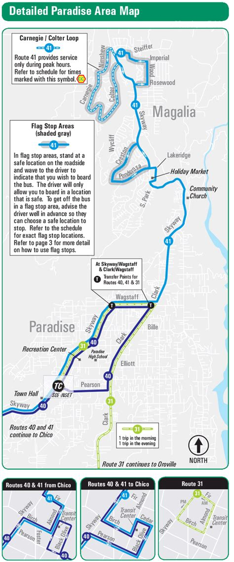 B Line   Route 41  Paradise Pines   Chico